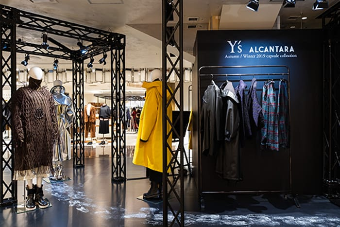 Y's für Alcantara: Limited Pop-Up-Store
