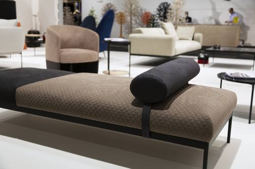 Alcantara con Adea alla Stockholm Furniture & Light Fair