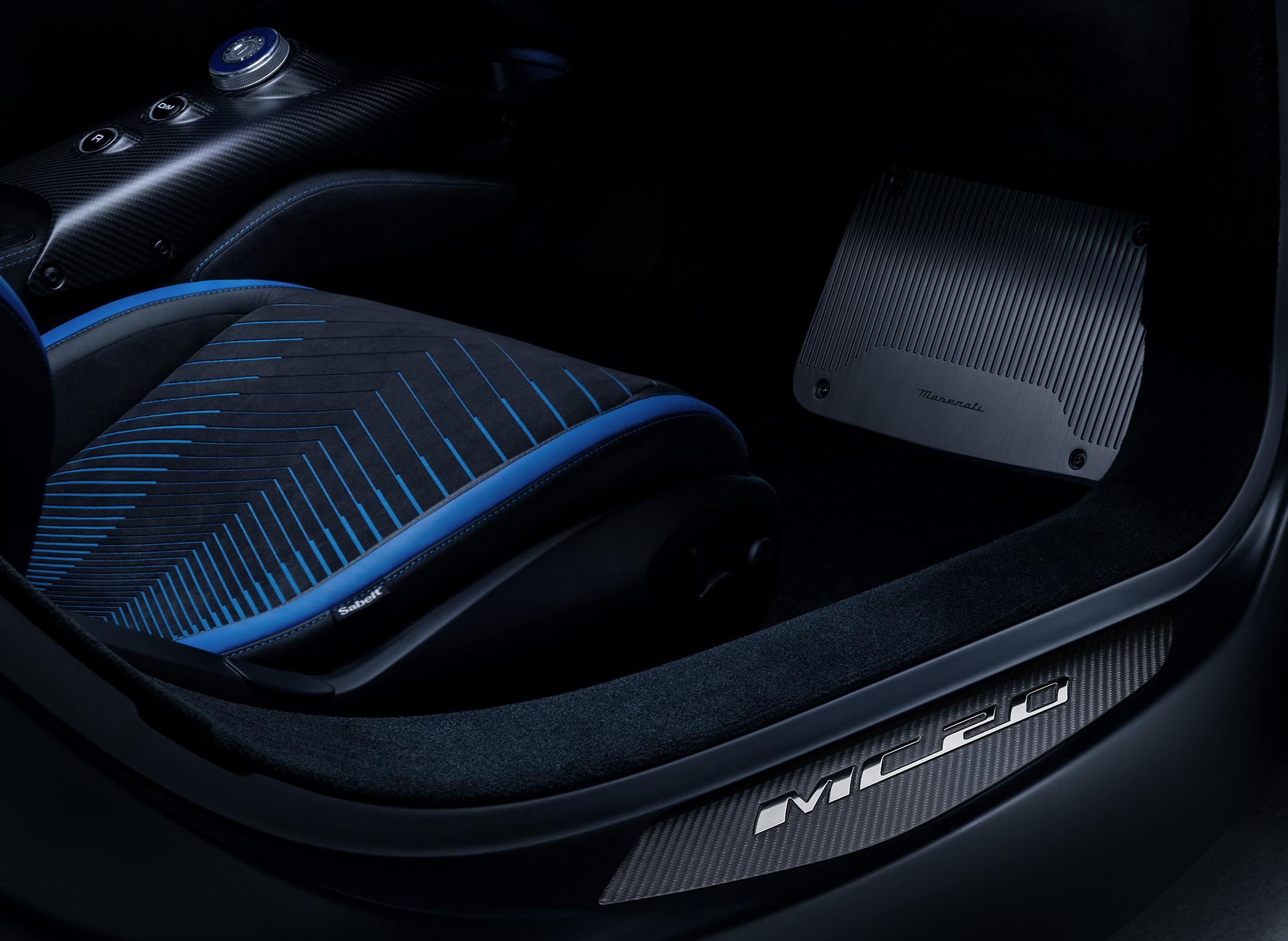 Alcantara for the interiors of the new Maserati MC20
