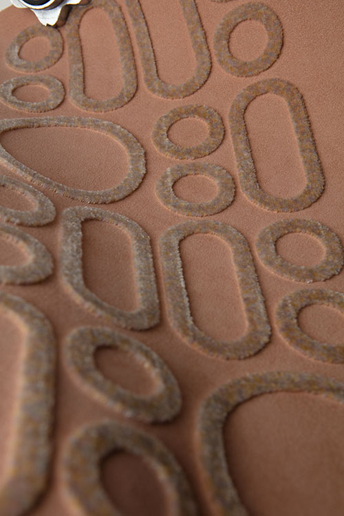 Alcantara collection 2020 21–ESSENTIAL Alcantara texture with tufting embroidery